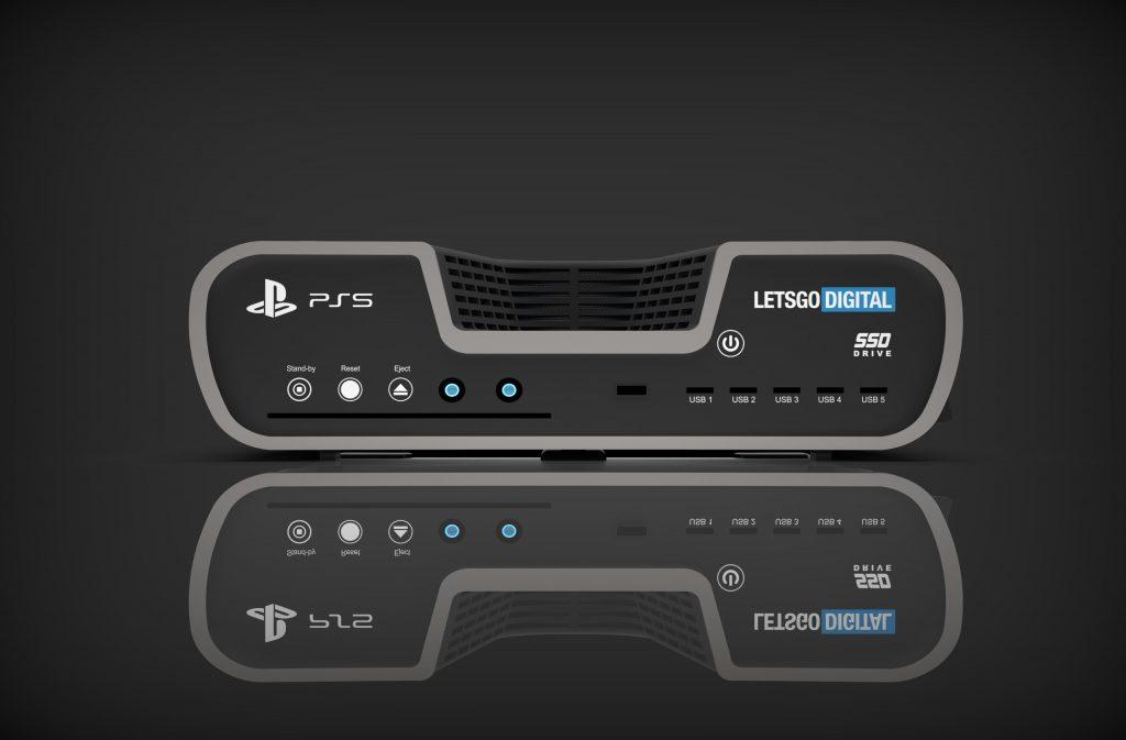 Vermeintliche Frontansicht der Playstation 5