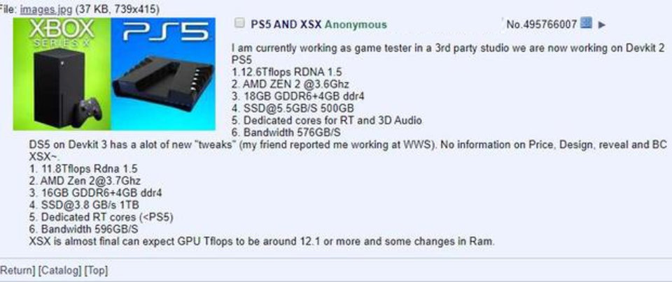 Leistungsübersicht der PS5 und der Xbox Series X - Bei den Teraflops hat die Playstation 5 die Nase vorne